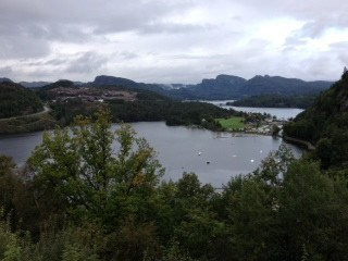 Picture taken in Lyngdal, Norway during a scenic tour of the area by the PWI Mission Team