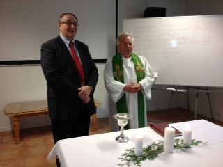 Pastor Bjorn & Pastor Harold Tysvar served communion together